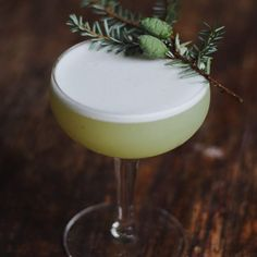Wharton's Last Word -- Gin, Green Chartreuse, smoked pine simple, lime, egg white.  .