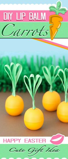 We've been hatching up some extra fun ideas for Easter. I was really excited when I got the idea to make cute little carrots out of EOS Tangerine Lip Balm. Eos Lip Balm, Lip Balms, Eos Chapstick, Eos Products, Beauty Products, Baby Lips, Easter Colors, Lip Scrubs, Easter Crafts