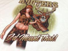 Hooters Sexy Girl T-Shirt I'd Mount That Big Boobs Authentic Hunting Deer 2XL http://www.ebay.com/itm/-/291807735586?roken=cUgayN&soutkn=xzlzTO #bogo #clothes #humpday #wings #guns