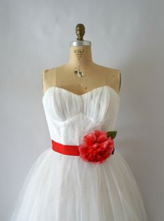 Vintage 1950s White Tulle Wedding Dress from Sweet Bee Finds