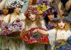Alma Tadema  La llegada de la Primavera es motivo de celebración y no veo mejor manera de hacerlo que sumergiéndomeen estecuadro de Alm...