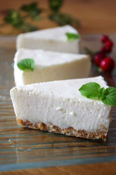 Tofu And Yogurt Mousse ヘルシー☆豆腐のヨーグルトムース Sweets Recipes, Fruit Recipes, Baking Recipes, Cake Recipes, Tofu Dishes, Food Crush, Weird Food, Asian Desserts, Healthy Sweets