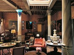 Roberto's living room in Tangier, which captivated Pierre Bergé. Massimo Listri. Studio Peregalli.