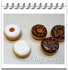 Donuts and Coffee Tutorial for Fimo or Polymer Clay Polymer Clay Charms, Polymer Clay Creations, Pictures Of Food Items, American Girl Food, Clay Food, Mini Things, Good Enough To Eat, Mini Foods, Diy Clay