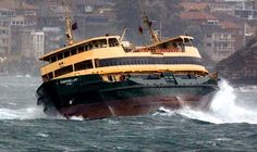 Manly ferry's rough passage crossing the heads in Sydney Harbour heading towards Circular Quay, Sydney ~ v Sydney City, Sydney Ferries, Bronte Beach, Wild Weather, Rock Pools, Tug Boats, Great Pic, Sydney Australia, Aussies