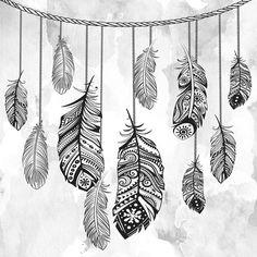 Quadro - Etnic Feathers - Decohouse