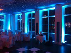 Shottle Hall with LED Uplighting. Derby weddings - DJ Baz.