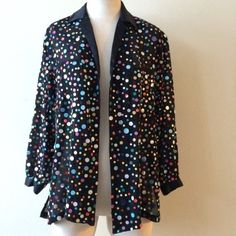 Henri Bendel Sequin Buttonless Jacket Neil Bieff for Henri Bendel. If you know anything about this designer, you know he does amazing things with sequins. This buttonless jacket is sheer + is perfect on top of a sexy LBD or American Apparel catsuit. Excellent condition. Missing a few sequins. Listed for exposure. kate spade Jackets & Coats