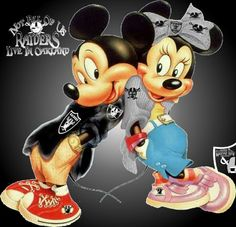 Raider Nation -- Mickey and Minnie ♥♥