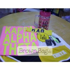 Kappa Alpha Theta Bid Day packages available online or in stores today! Bid Day Gifts, Kappa Alpha Theta, Brown Bags, Online Gifts, Sorority, Packaging, Basket, Paper Bags, Wrapping