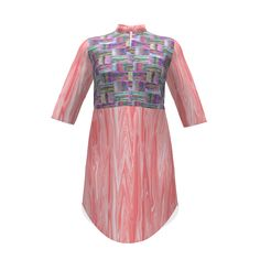 Named Clothing Helmi Tunic Dress made with Spoonflower designs on Sprout Patterns. Sylvie, of #paysmage, has proven that parquetry isn