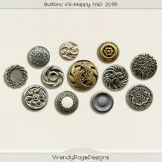 Quality DigiScrap Freebies: Buttons freebie from Wendy Page Designs
