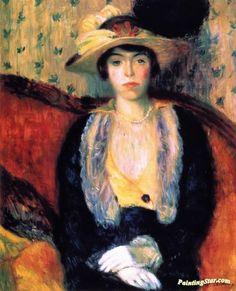 Miss Olga D. Artwork by William James Glackens