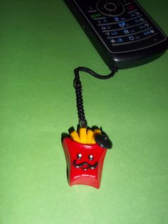 French Fry Guy Cell Phone Charm by KrosemCrafts on Etsy, $3.25