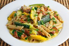 Zucchini Carbonara ~ This looks good, but I would use a different pasta... maybe rotini