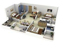 8 modern 3d floor plans (5)