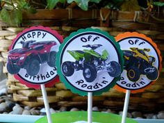 Quad Off Road Cupcake Toppers ATV By WildvineUnlimited On Etsy Birthday Themes For Boys Third