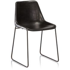 HUDSON LEATHER DINNING CHAIR BLACK - 17887050 - Overstock.com Shopping - Great Deals on Horizon Dining Chairs