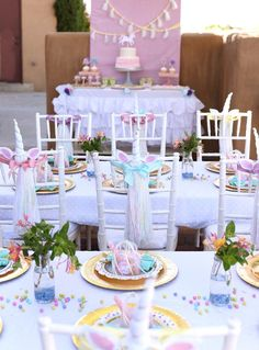 Unicorn Party Tablescapes from a Pastel Unicorn Themed Birthday Party via Kara's Party Ideas | KarasPartyIdeas.com (32)