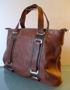 Peruzzi Made in Italy Napa Leather Tote Bag by EurotrashItaly on Etsy