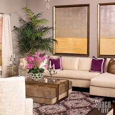 Olga Smith designed this living room for The Design Network's Space Off Episode 2 with this Surya Moderne Collection rug. (MDR-1051)