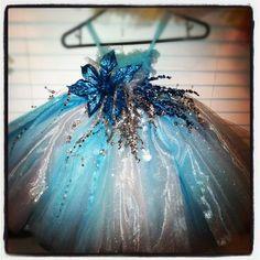 Snowflake Tutu Dress by Tuturificdesign on Etsy, $120.00