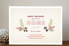 Home for the Holidays Holiday Non-Photo Cards by J... | Minted