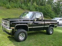 one day my dads truck will look like this again  85 CHEVY 4X4  one sweet truck