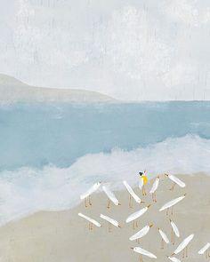 'The cautious one' painting by Blanca Gomez Photo Vintage, Fish Print, Light Texture, Art Graphique, Illustrations And Posters, Print Artist, Art Design, Large Prints, Fine Art Paper