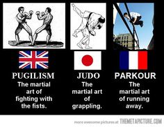Martial arts... that last one haha