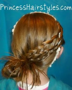 Woven waterfall braids, cute hairstyle for Easter. It would be even more cute if it was a ballerina bun.