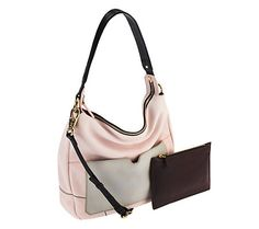 orYANY Adele Pebble Leather Hobo w/ Accessory Zippered Pouch