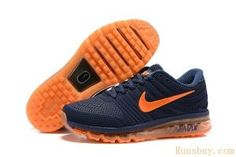 Nike Air Max 2017 Men Dark Blue Orange by Smith Lisa