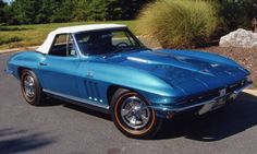 1966 Corvette | Nassau Blue 1966 Corvette Convertible 427/390 - Aucton Results: $ ...