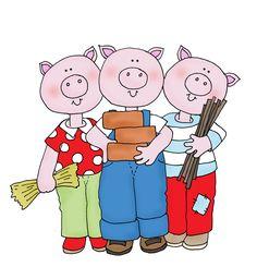 Free Dearie Dolls Digi Stamps: Three Piggies