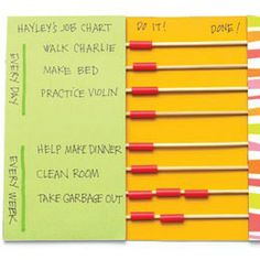 15 of the Coolest Chore Charts for Kids   Family Style