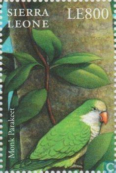 2000 - Monk Parakeet / Sierra Leone / LE800 | The Stamp Show 2000 London