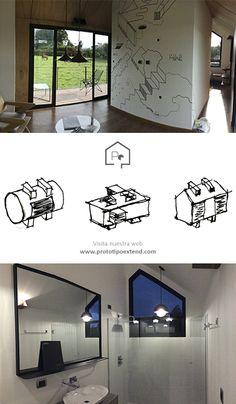 Prototipo Extend®  Interiores - 47m2 Medellín - Antioquia Mini, House, Home Decor, Medellin Colombia, Prefab Homes, Interiors, Homemade Home Decor, Home, Haus
