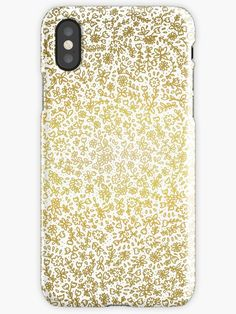 Petites fleurs or iPhone case Graphic, Bamboo Cutting Board, Poster, Iphone Cases, Patterns, Art Nouveau, Block Prints, Iphone Case, Billboard