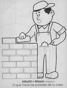 Los Oficios - Sonia.1 - Picasa Web Albums Art Drawings For Kids, Colorful Drawings, Drawing For Kids, Coloring Sheets For Kids, Coloring Books, Coloring Pages, Preschool Special Education, Kids Education, Community Helpers Crafts