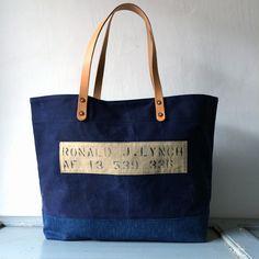 60'S USAF vintage duffle bag remake tote bag IND_BNP_0094_USAF W51cm H34cm D14cm 持ち手52cm