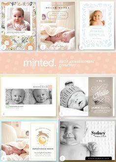 Minted birth announcement giveaway on 100 Layer Cakelet