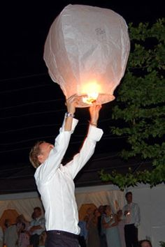 flying sky lanterns for weddings - Google Search