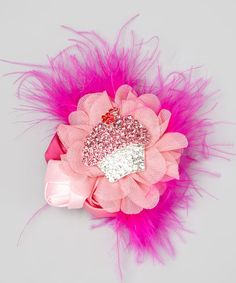 My Sunshine Shoppe Pink Cupcake Adele Hair Clip