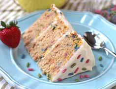 Homemade Funfetti Cake - GF, Sugar Free