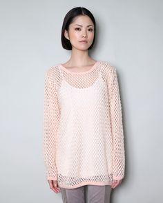soft pink knit mesh