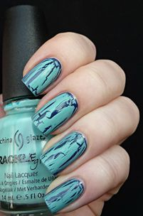 """crackle nails!!  I tried these only used the crackle """"white"""" loved it!!   You can extend the life of the polish because it hides/blends the tip ends when they start to wear off!  Looks cool too!!"""