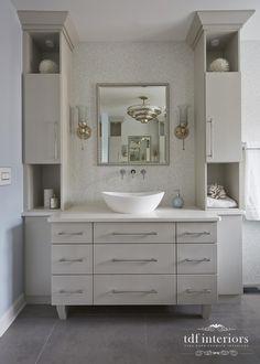 Luxurious and Tranquil Contemporary Bathroom design on Chicago North Shore Contemporary Bathroom Designs, Contemporary Style, Standing Shower, Residential Interior Design, North Shore, Master Bathroom, Bathroom Ideas, Custom Design, Chicago