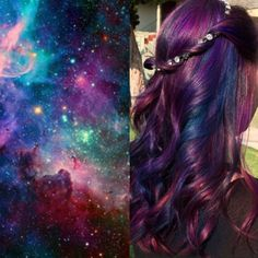 We're obsessed with the galaxy hair trend. See all the looks here