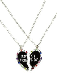Girls Clothing | Necklaces | Multi BFF Heart Necklace | Shop Justice
